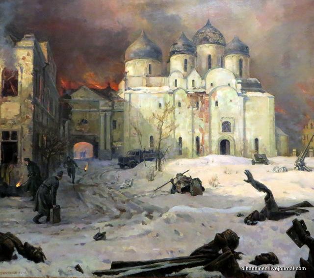 Кукрыниксы, Бегство фашистов из Новгорода, 1944-1946