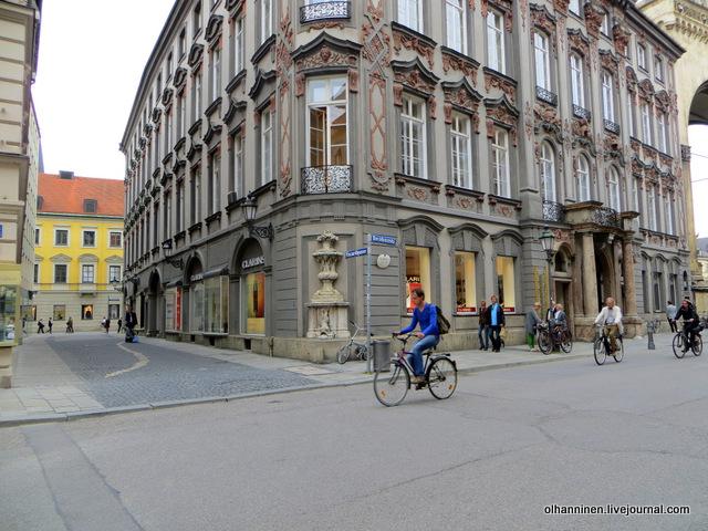 велосипед на улице Мюнхена
