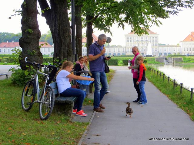 09 кормежка уток по дороге в Нимфенбург