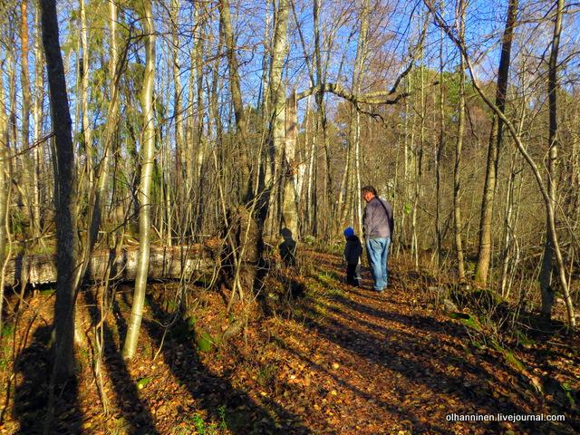 21 муж с внуком около дерева