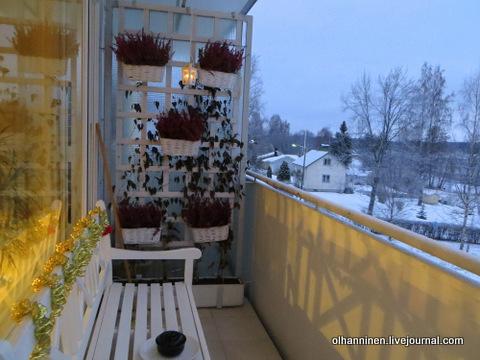 кокотница на балконе