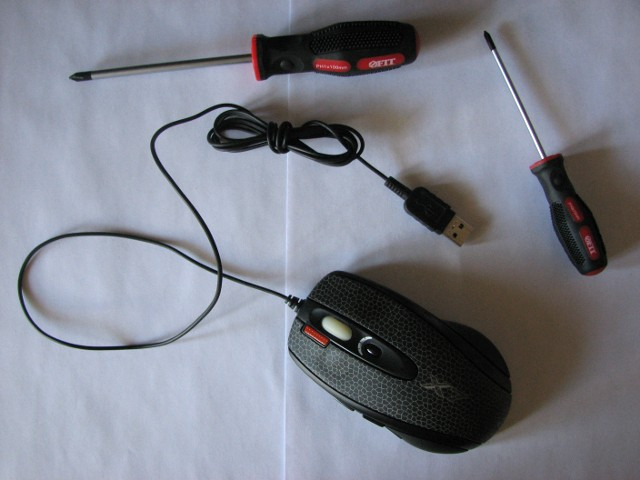 мышь и отвертки