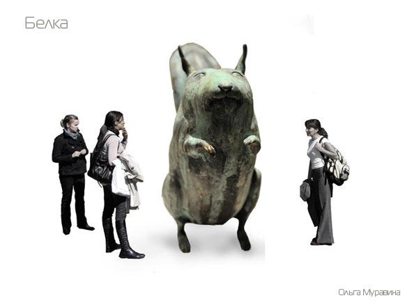 муравина оля, победитель конкурса скульптуры в Олимпийский парк