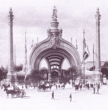 entrance gate to the Paris World Exposition in 1900 by rene binet based on haeckels drawings of radiolarians