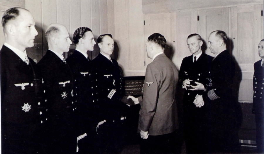 Hitler in Kriegsmarine award ceremony. Merten, Lüth, Guggenberger & Tonniges