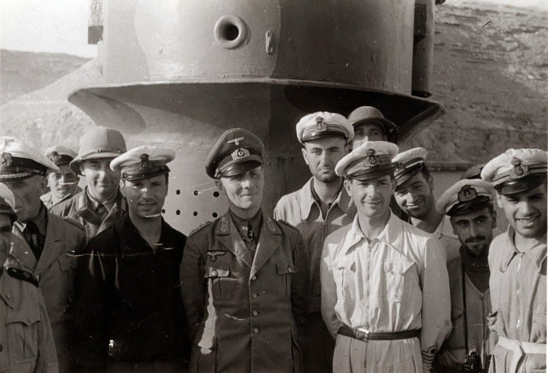 Rommel took his ship across to Tripoli.   Obviously, these are Italian naval officers