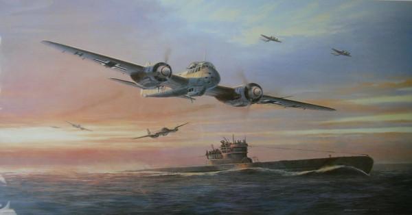Mark-Postlethwaite-Print-KAMERADEN-U-Boat-Ju88c-Signed