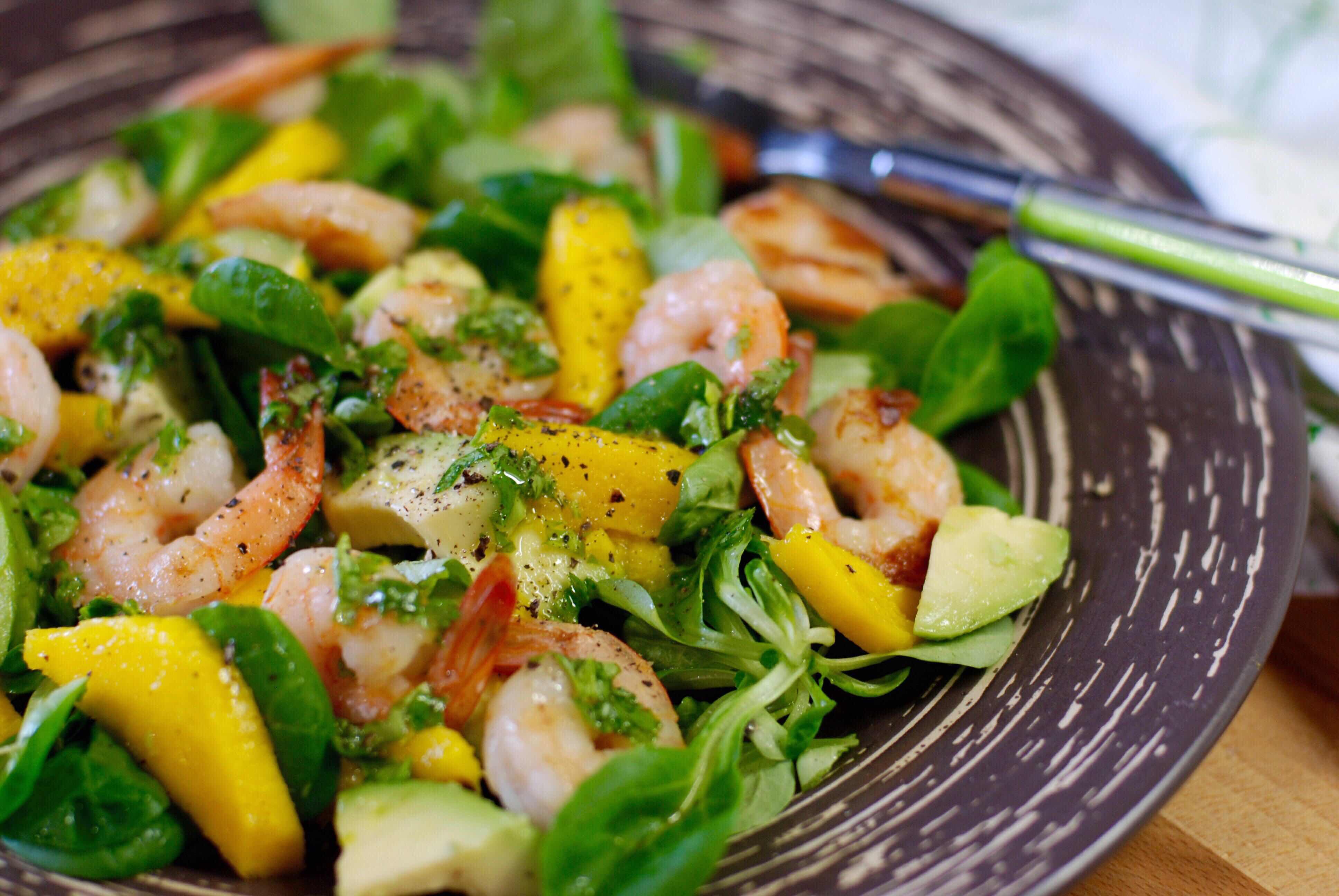 Салат с манго с креветками рецепт очень вкусный
