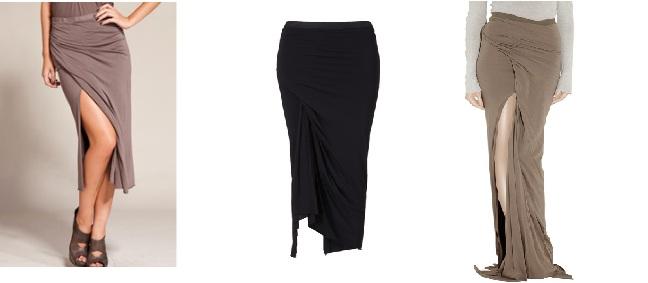 прямые юбки складками: