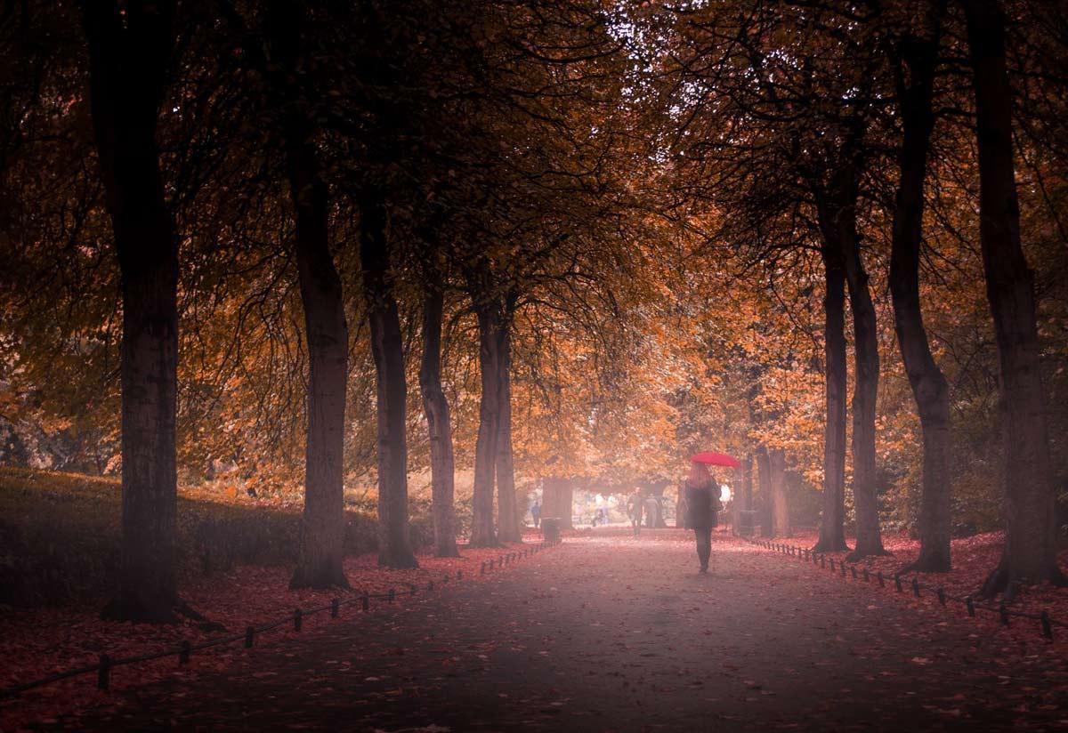 Что такое осень я не знаю, а нет, постойте, знаю! Девушка в осенней атмосфере столичного парка.