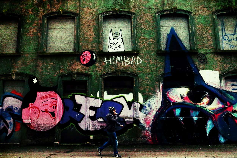 Уличное граффити в Белфасте - столице Северной Ирландии.