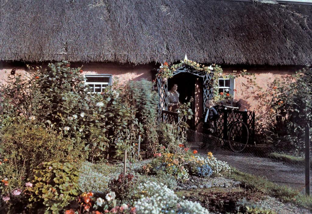 Дом с соломенной крышей и большим садом. 1927 год