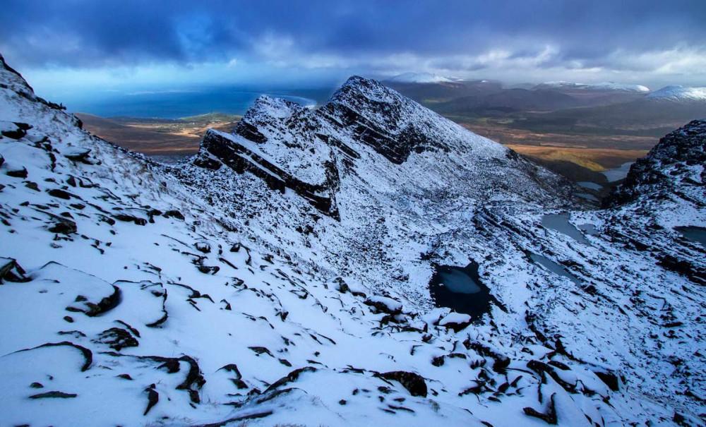 Гора Брандон на полуострове Дингл в графстве Керри.