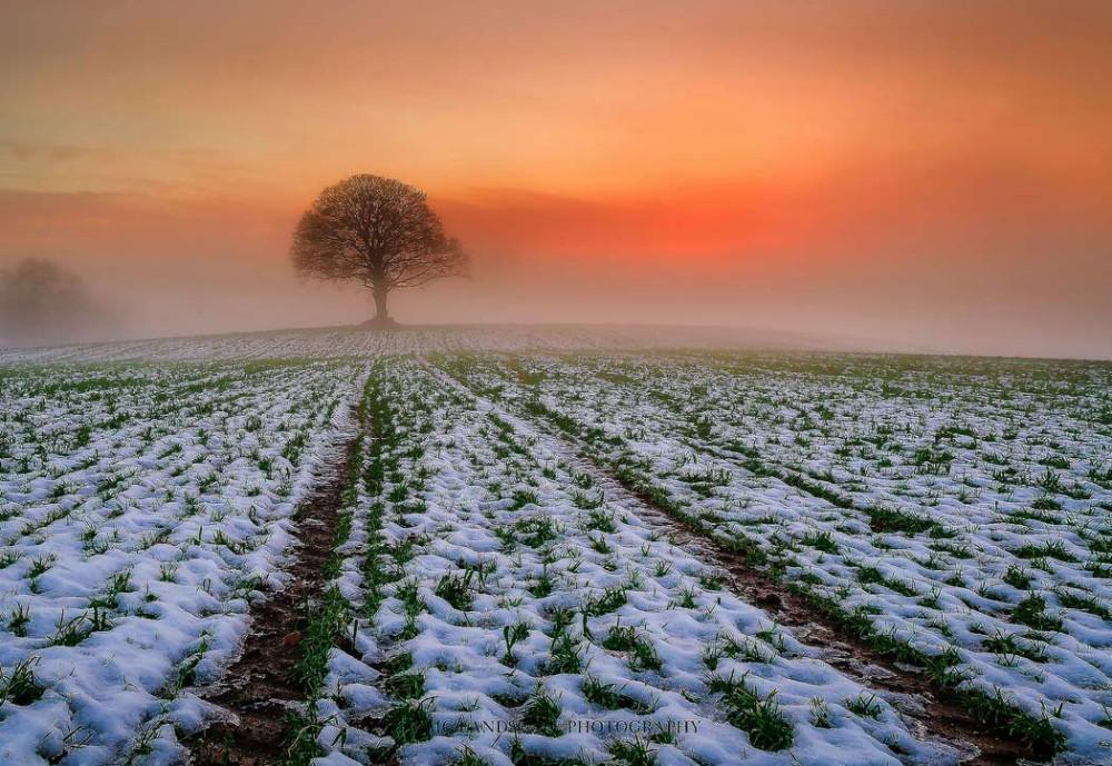 Графство Тайрон укрытое снегом.