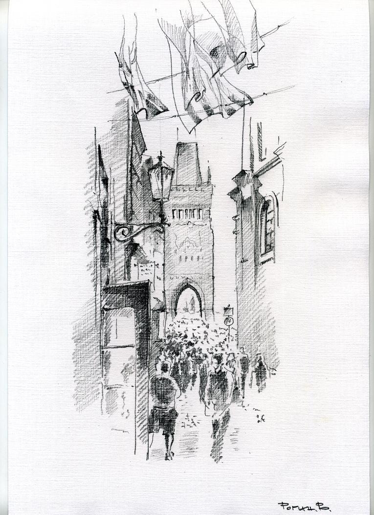 верхней прага черно белый рисунок конце