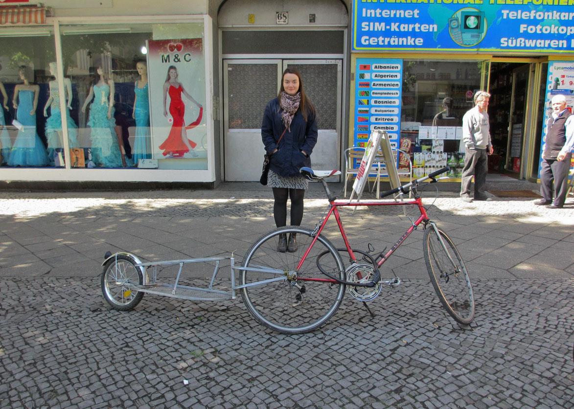 Велосипед-пикап.