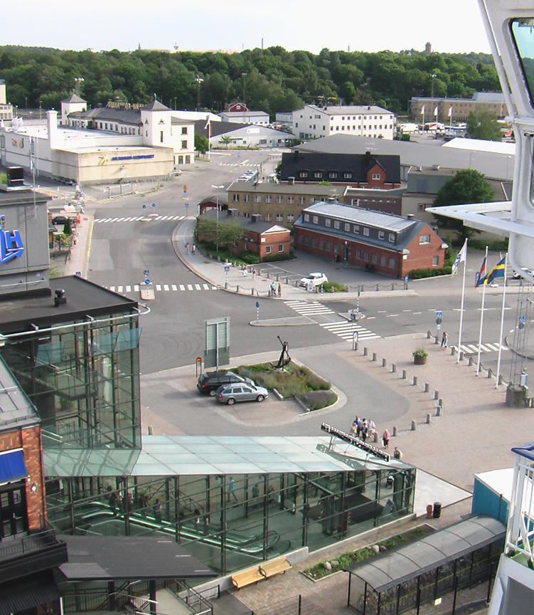 Вид с парома на терминал Фрихамнен