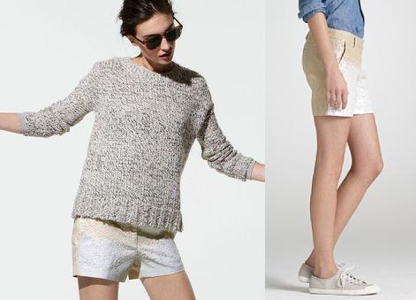 jcrew sequined shorts