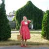 Красное в белый горошек платье_06