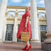 Красное в белый горошек платье_03