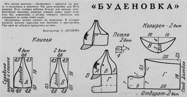 Budenovka  pattern