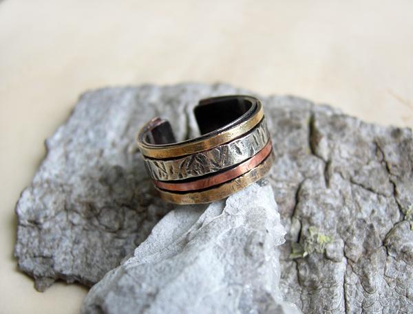кольцо 4 металла