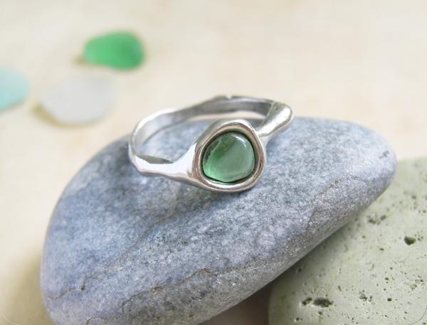 кольцо морское стекло2