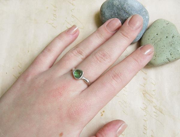 кольцо морское стекло5