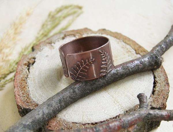 кольцо папоротник2