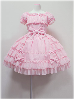 Pink Side Frill OP