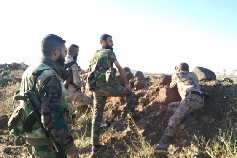 Военные в Кунейтре, перемирие нарушено.jpg