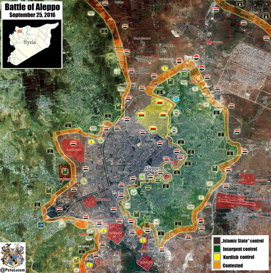 Сирия, онлайн, Алеппо, карта, война. Almasdar, Наиновейшая карта боёв в Алеппо