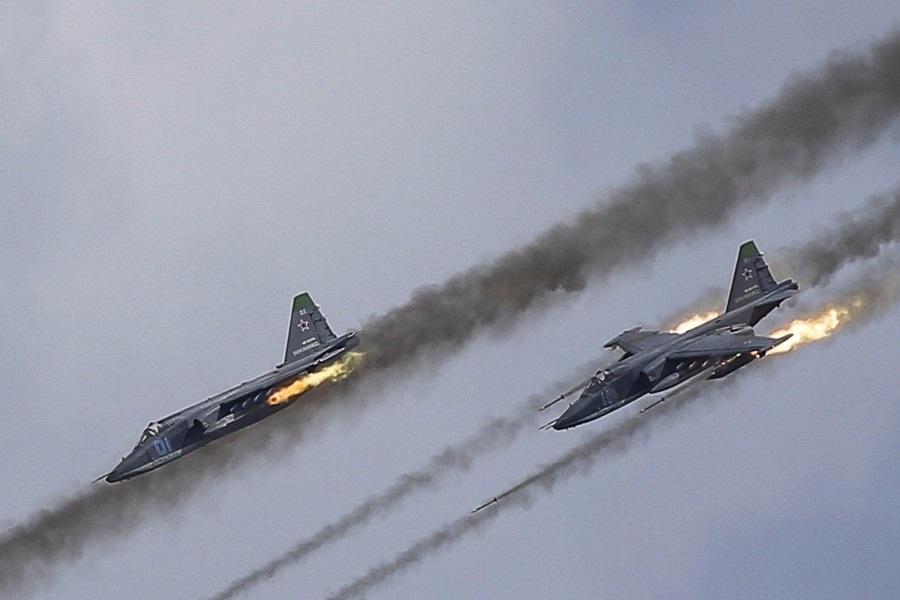 Сирия, Россия, ВКС РФ, Су-25, ракетный удар, авиация, война, штурмовик