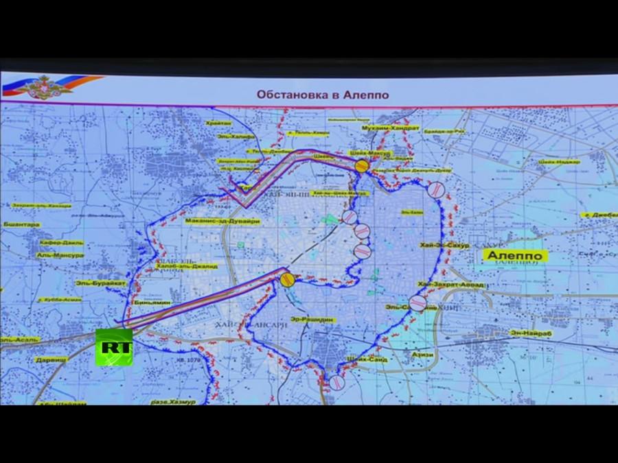 Сирия, Алеппо, Минобороны РФ, Рудской, брифинг, гумкоридоры, гумпауза, прекращение огня
