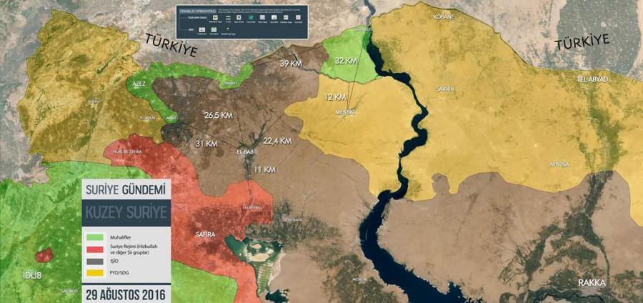 2016.08.29 18.21 Muhammad Jazira в FB Ситуация на севере провинции Алеппо (Сирия), отмечены дистанции.jpg