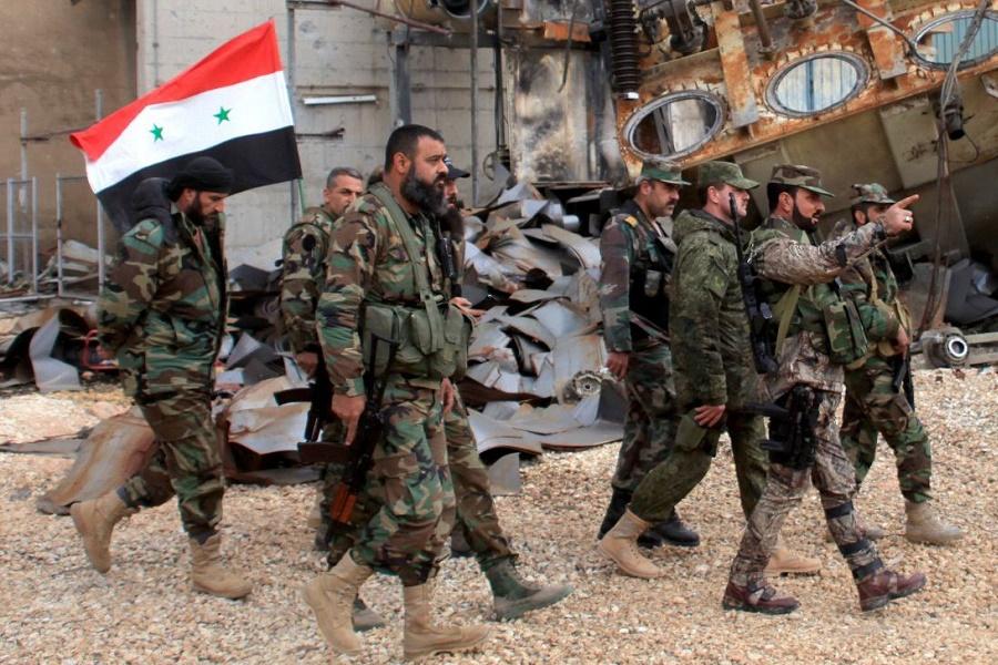 Бойцы штурмовой дивизии «Тигр» Сирийской арабской армии (САА)