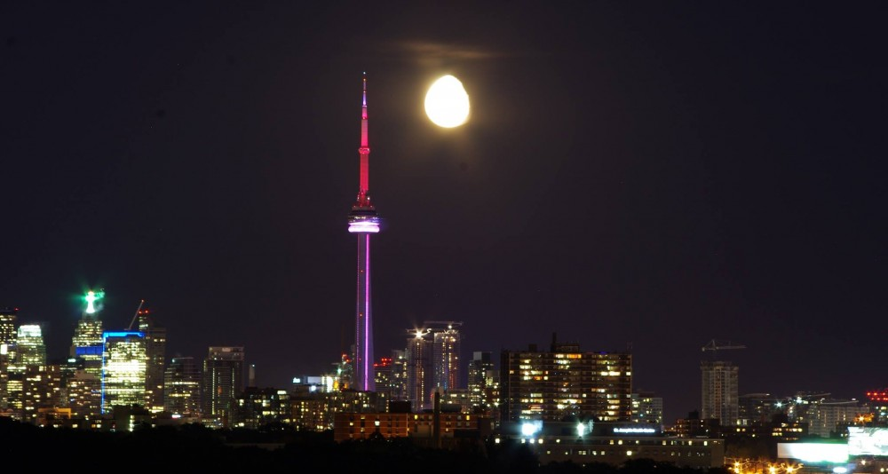 CNTower and the Moon