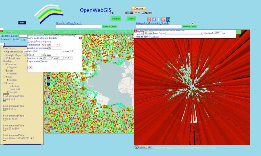Fractal_OpenWebGIS_Julia_Set_tan_sin_z_3D