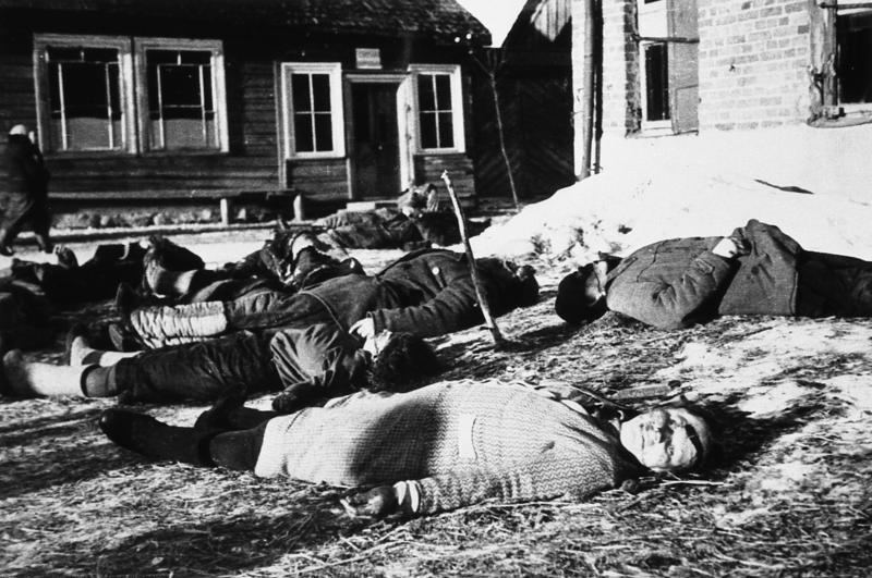Massacred Belorussians, near Minsk, 1943
