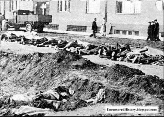 Расправа чехов над немцами в 1945-м. Нет ничего страшнее развязавшегося холопа Postoloprty-massacre-germans-1945-Czechoslovakia