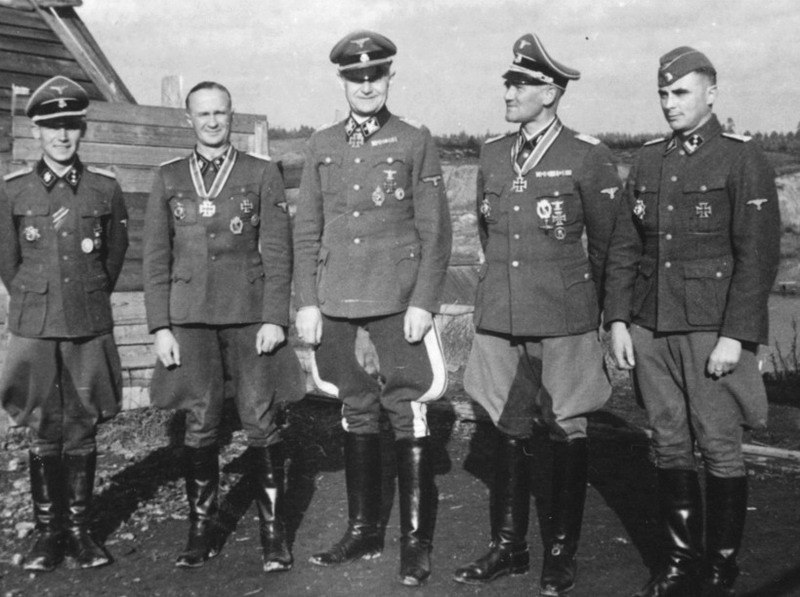 Gunther Butte, Karl Schumers, Alfred Wunnenberg, Otto Gieseke, Hans Traupe