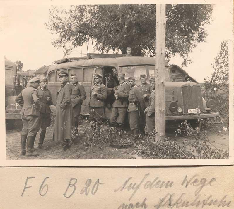 Немцы у автобуса