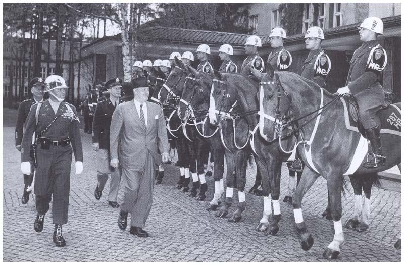 Horse Platoon on display May 1956