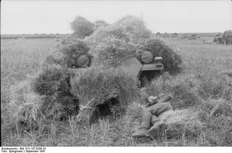 Bundesarchiv_Bild_101I-187-0208-33,_Russland,_getarnter_Schützenpanzer_auf_Feld