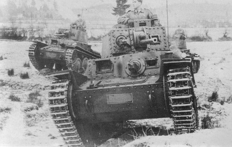 Легкие танки Pz.38 из состава Словацкой экспедиционной армии