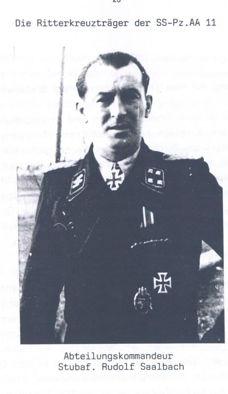 Saalbach, Rudolf - Sturmbannführer