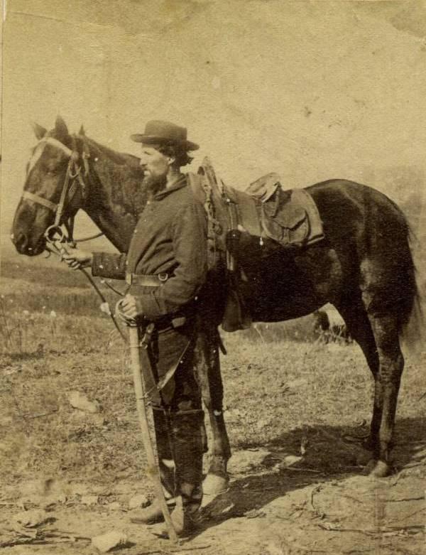 Солдат кавалерии США -гражданская война