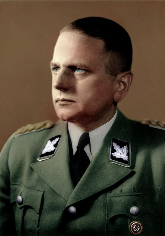 color Otto Ohlendorf. Colored photograph