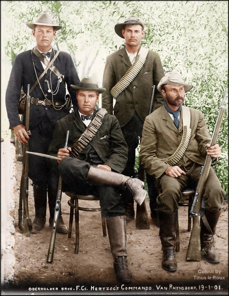 Boer war Boer vegter in kleur.jpg