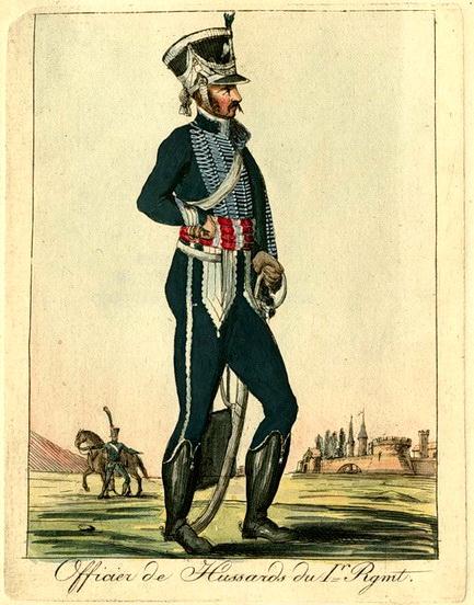 Вестфалия. Офицер 1 - го полка гусар..jpg